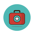 First aid kit flat icon Medical vector image