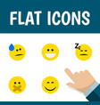 flat icon emoji set of smile hush grin and other vector image vector image