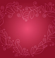 floral leaf wreath in shape heart vector image vector image