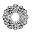 flower mandala gradient vector image vector image