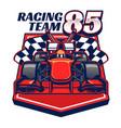 formula racing car design vector image vector image