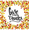 Frame from yellow autumn leaves with lettering vector image vector image