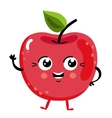 Funny fruit cherry isolated cartoon character vector image vector image