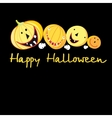 Greeting card with a cheerful pumpkins for vector image vector image