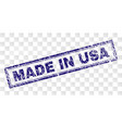 grunge made in usa rectangle stamp vector image vector image