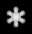grunge painted snowflake vector image
