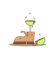 Isolated cartoon old boots and meat tree vector image vector image