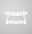 Jaw with canines vector image