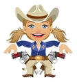 Lovely lady Sheriff character closeup vector image vector image
