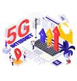 network 5g internet generation design concept vector image vector image