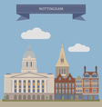 Nottingham vector image vector image