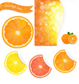 Orange Labels vector image vector image