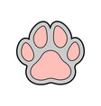 pawprint color vector image