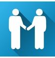 Person Handshake Gradient Square Icon vector image