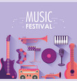 play instruments to music festival event vector image vector image