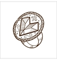 Ring with heart diamond vector image vector image