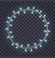 round frame overlapping glowing string lights vector image