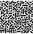 seamless line doodle memphis pattern fashion 80 vector image vector image