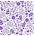 Seamless pattern with hand drawn leaves and