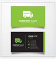Shipping truck icon business card template
