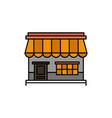 shop online market store building flat color icon vector image vector image