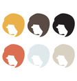 Silhouette woman with hair vector image