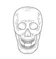 Skull with vampire teeth sketch