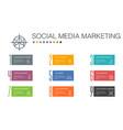 social media marketing infographic 10 option line vector image vector image