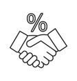 successful deal linear icon vector image