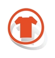 T-shirt sign sticker orange vector image vector image