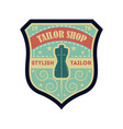 tailor shop vintage isolated label vector image vector image