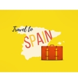 Travel to spain concept Spanish traveler vector image vector image