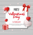 valentines day party invitation template flyer vector image