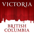Victoria British Columbia Canada city skyline silh vector image vector image
