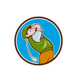 Vintage Golfer Swinging Club Teeing Off Circle vector image vector image
