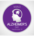 world alzheimers day icon vector image vector image