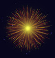 yellow fireworks independence day background vector image vector image
