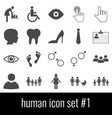 human icon set 1 gray icons on white background vector image