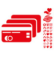 banking cards icon with dating bonus vector image