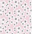 sakura blossom seamless pattern on pale pink vector image