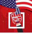 Hand Foam Vote 2016 vector image