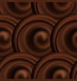 abstract background pattern with chocolate wavy vector image vector image