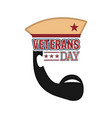 abstract soldier avatar veteran day label vector image