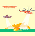 aircraft and helicopters poster with text vector image vector image