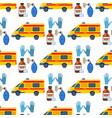 ambulance seamless pattern background vector image