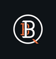 bbq barbecue monogram vector image vector image