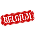 belgium red square grunge retro style sign vector image vector image