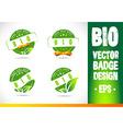 Bio Badge Logo vector image vector image