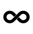 black infinity symbol icon simple flat vector image vector image