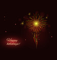 bright red yellow fireworks holidays background vector image vector image